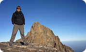 Exodus' Alistair Grice on the summit of Mt Kenya