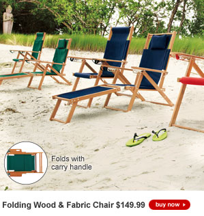 Buy 2, SAVE $50 - Folding Wood & Fabric Chair - $149.99 each