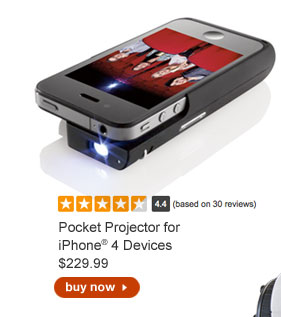 Pocket Projector for iPhone® 4 Devices $229.99