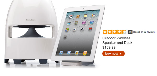 Outdoor Wireless Speaker and Dock $159.99