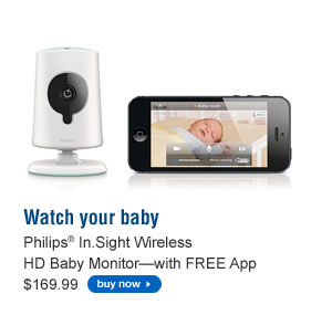 Phililps® In.Sight Wireless HD Baby Monitor (with FREE App) - $169.99