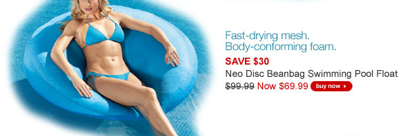 Neo Disc Beanbag Swimming Pool Float NOW $69.99