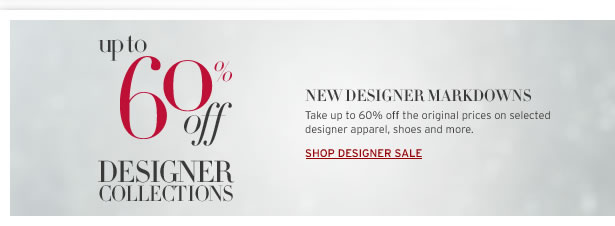 Up to 60% off Designers Collection