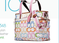 coach scribble healthy child baby bag