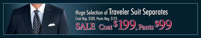 Huge Selection of Traveler Suit Separates - Sale Coat $199, Pants $99