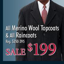 All Merino Wool Topcoats & All Raincoats