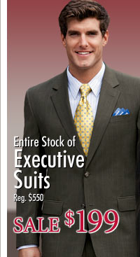 Entire Stock of Executive Suits - Sale $199