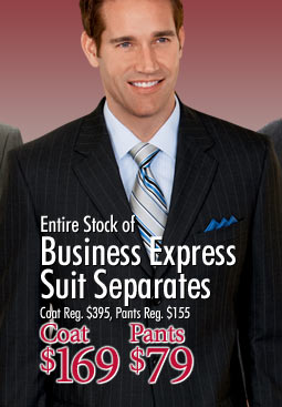 Entire Stock of Business Express Suit Separates - Coat $169, Pants $79