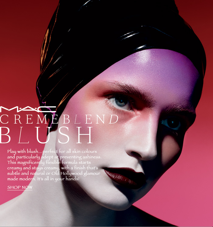 new make up from mac cosmetics cremeblend blush on march 2011