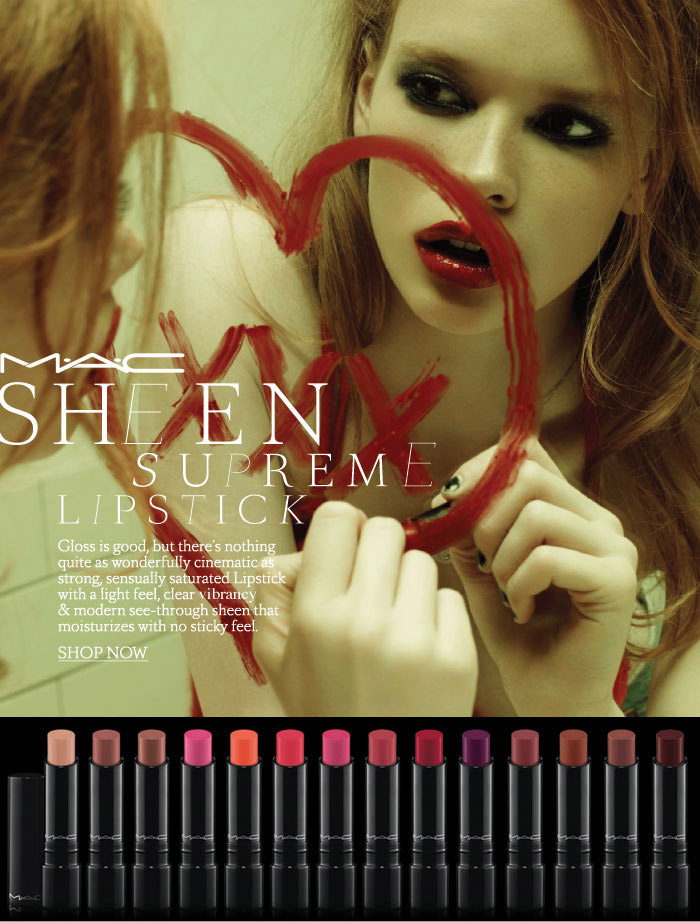 MAC Cosmetics new sheen supreme lipstick 2011