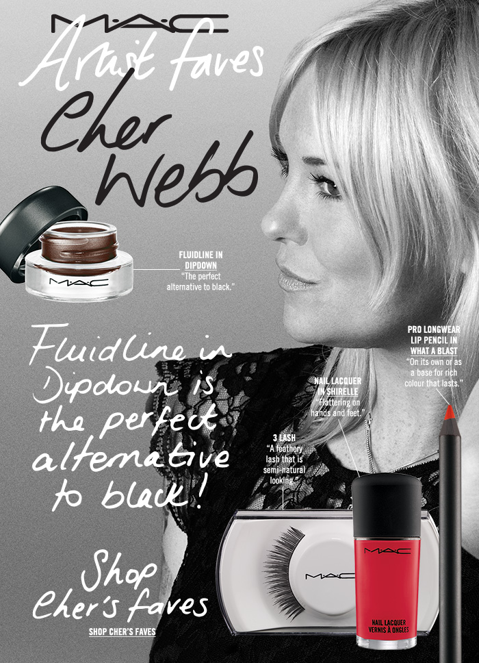 """Fluidline in Dipdown is the perfect alternative to black!"" Shop Cher's Faves"