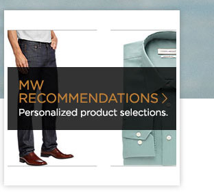 >> MW RECOMMENDATIONS  Personalized product selections