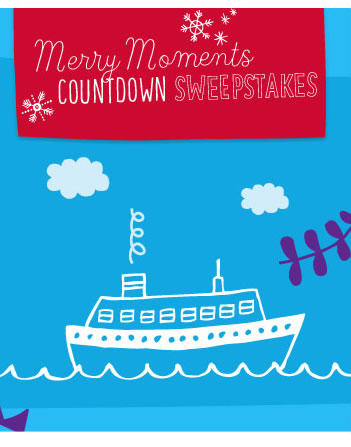 Merry Moments Countdown Sweepstakes