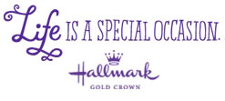 Life is a Special Occasion. Hallmark Gold Crown