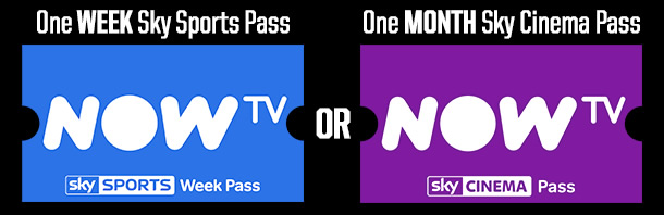 NOW TV: ONE WEEK SKY SPORTS PASS OR ONE MONTH SKY CINEMA PASS