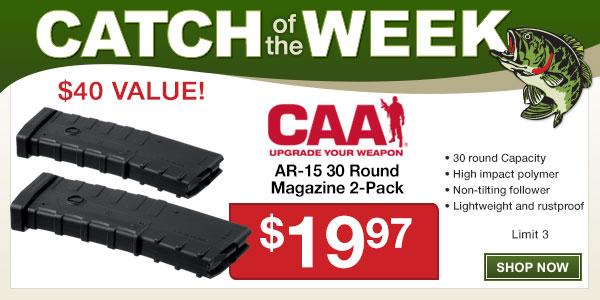 CAA 30 Round Standard Polymer Magazine - 2 Pack -$19.97