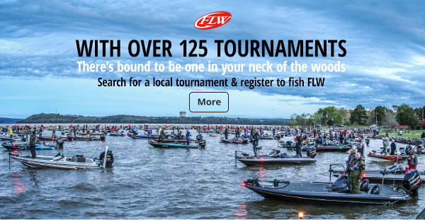 Search for a local tournament and register to fish FLW