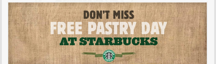 Don't Miss Free Pastry Day at Starbucks