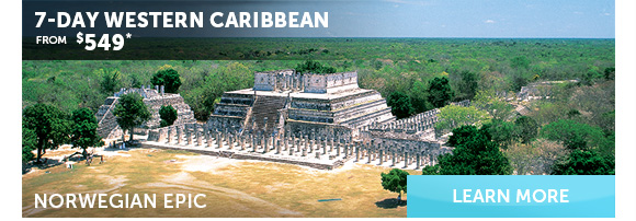 7-Day Western Caribbean On Norwegian Epic From $549. Learn More.