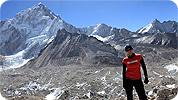 Exodus' Lou Day trekking in the Himalaya