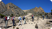 Trekking on Mt Kenya